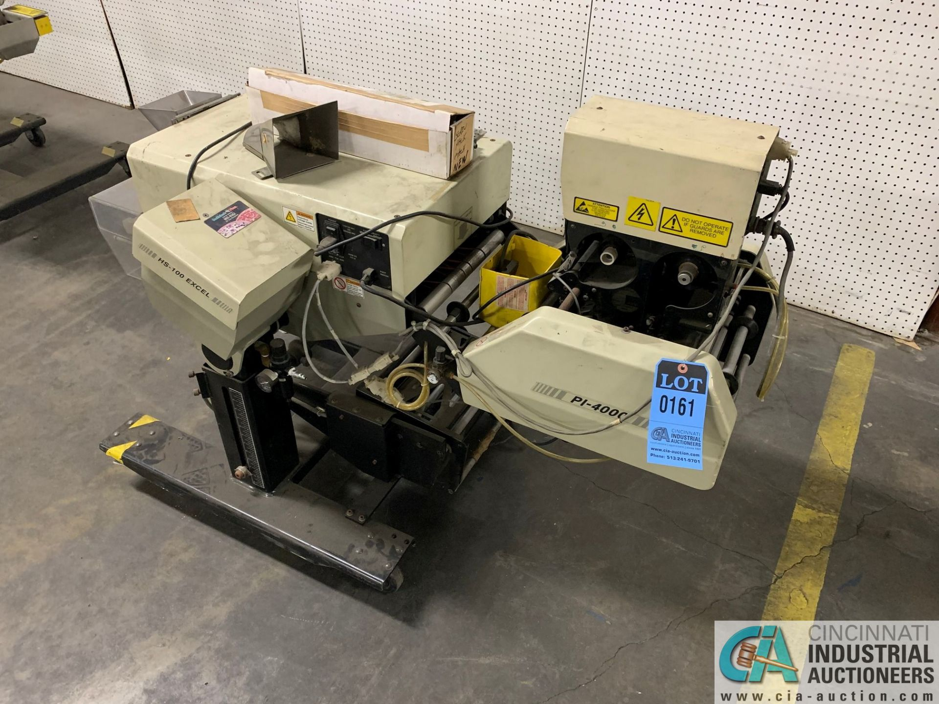 AUTOBAG MODEL HS-100 EXCEL POLY BAGGING MACHINE; S/N 2072896019, WITH P1-4000 AUTO LABEL MACHINE ( - Image 5 of 7