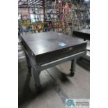 """36"""" X 48"""" X 6"""" THICK TRU-STONE BLACK GRANITE SURFACE PLATE WITH PORTABLE CART"""