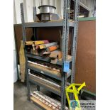 (LOT) SHELF, WITH WELDING WIRE AND ROD