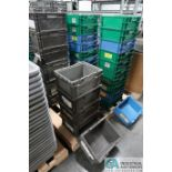 """STACKABLE STRAIGHT WALL TRAYS, (10) 10"""" X 13"""" X 7-1/2"""" DEEP BUCKHORN STACKABLE STRAIGHT WALL TRAYS"""