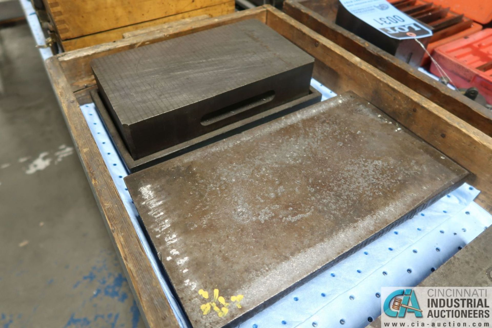 """6-1/2"""" X 11"""" X 3"""", 7-1/2"""" X 13"""" X 2-1/2"""" CAST IRON SURFACE PLATES WITH 5-1/2"""" X 10-1/2"""" MAGNETIC - Image 3 of 3"""