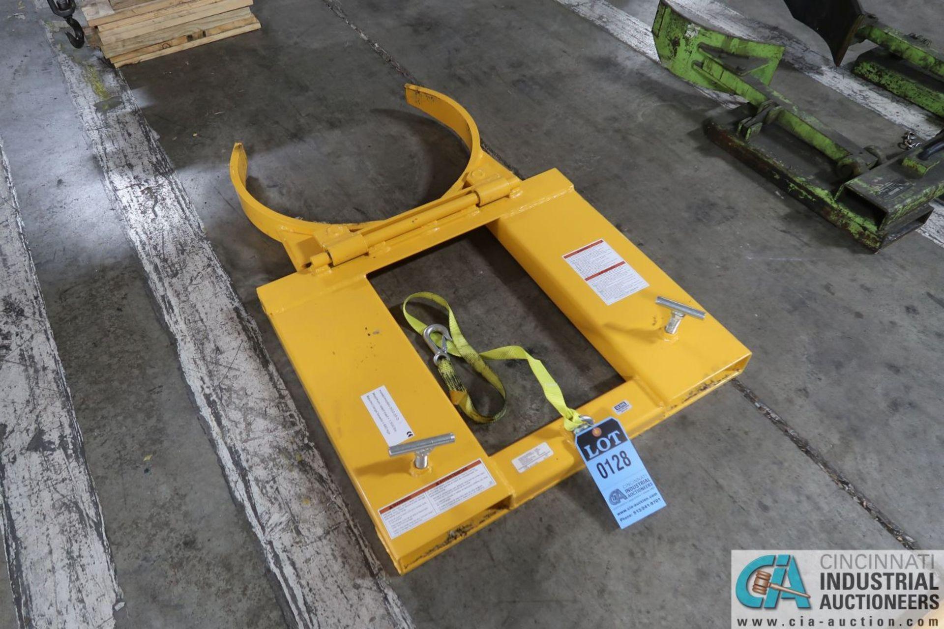 1,500 LB. CAPACITY VESTIL MODEL DGS-55-D LIFT TRUCK DRUM CLAMP