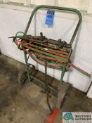 OXY ACETYLENE TORCH WITH CART, (4) TORCHES