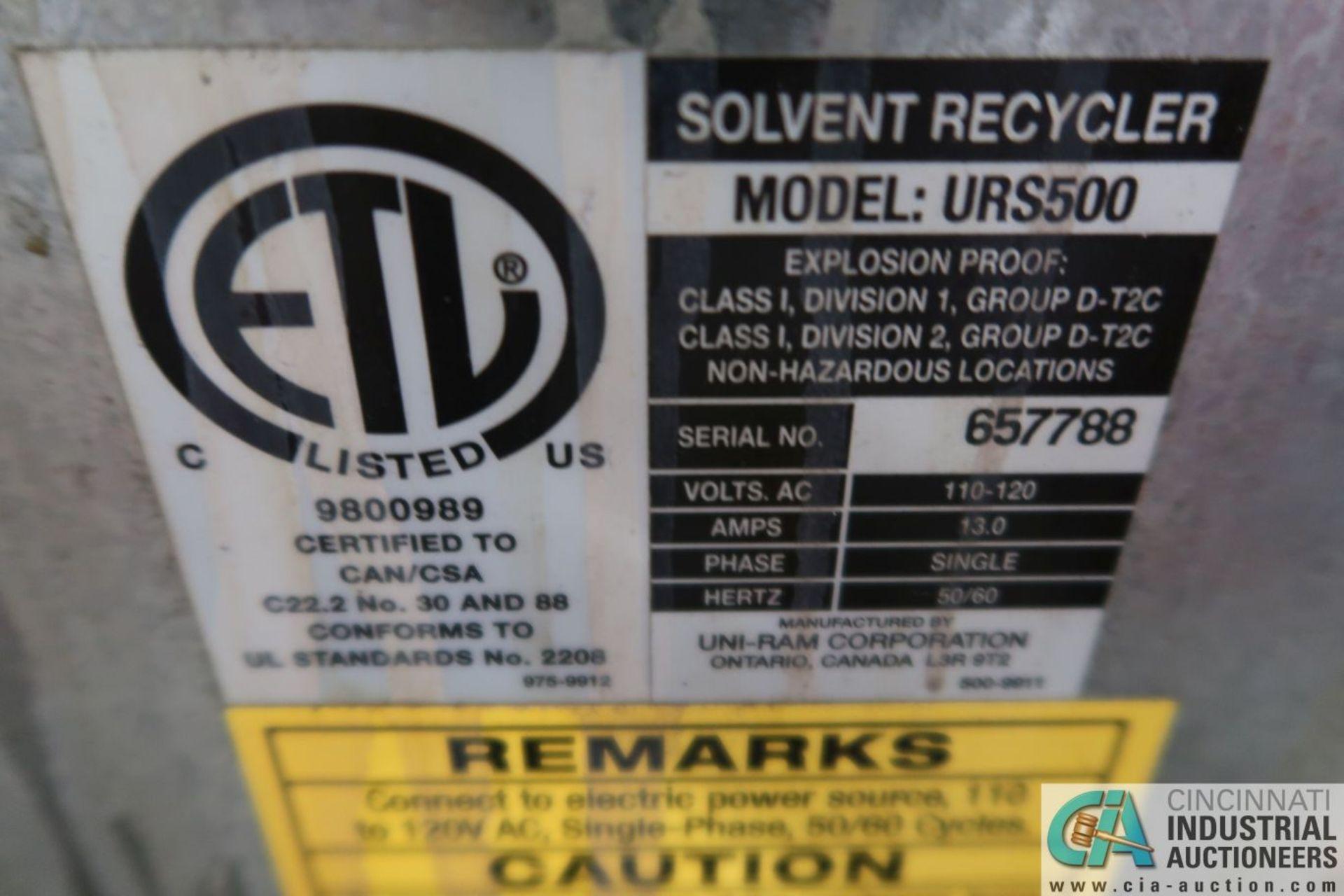 UNI-RAM MODEL URS500 SOLVENT RECYCLER; S/N 657788 - Image 4 of 4