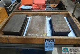 "6-1/2"" X 11"" X 3"", 7-1/2"" X 13"" X 2-1/2"" CAST IRON SURFACE PLATES WITH 5-1/2"" X 10-1/2"" MAGNETIC"