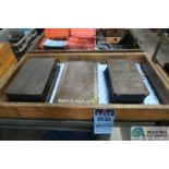 """6-1/2"""" X 11"""" X 3"""", 7-1/2"""" X 13"""" X 2-1/2"""" CAST IRON SURFACE PLATES WITH 5-1/2"""" X 10-1/2"""" MAGNETIC"""