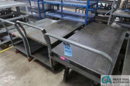 MISCELLANEOUS SIZE JAMCO AND LITTLE GIANT WELDED STEEL CARTS