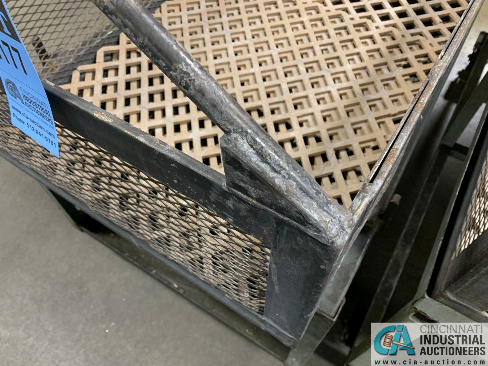 "66"" X 24"" X 12"" DEEP STEEL BASKETS WITH CARTS - Image 3 of 3"