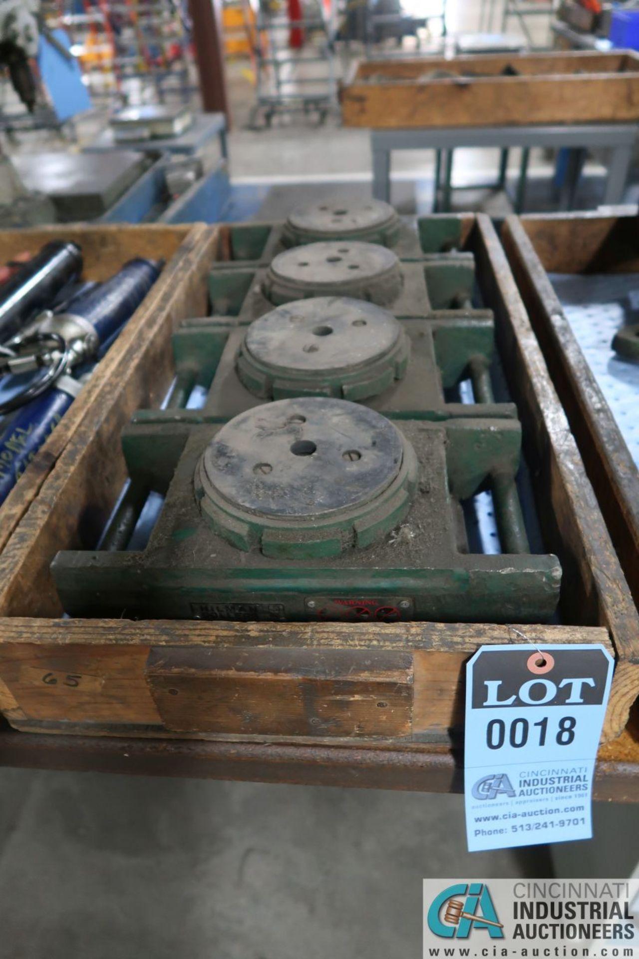 (LOT) (4) 15 TON CAPACITY HILLMAN MODEL SP-15 MACHINE SKATES