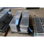 "8"" WIDE X 3' LONG SPAN TRACK FLOW RACK ROLLER CONVEYOR, WITH (3) 8"" X 40"" ROLLER CONVEYOR"