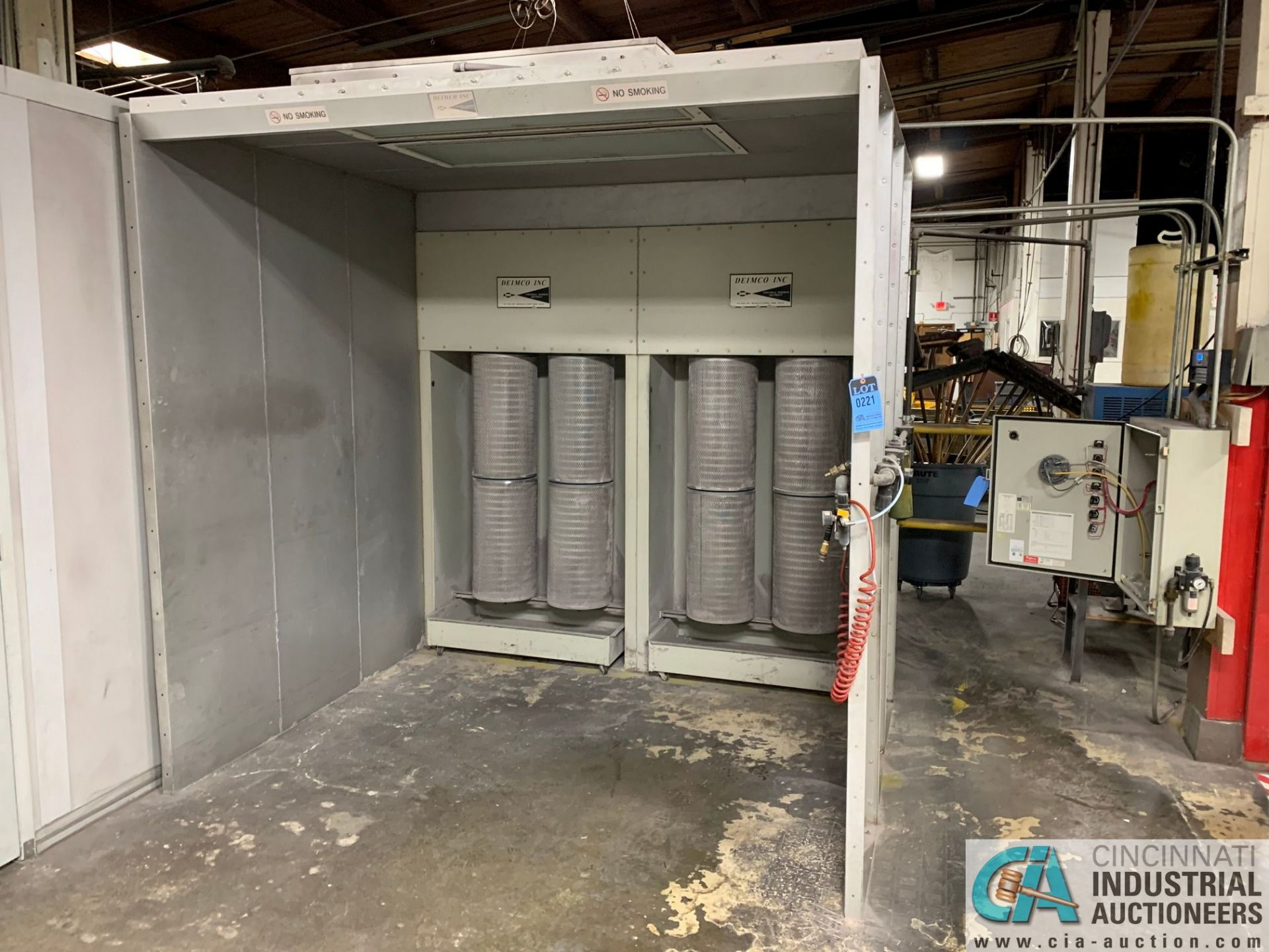 "8' X 6' X 90"" DEIMCO PWI-08-08-06-2-3K POWDER COAT BOOTH - Approx. $30,000 replacement cost - Image 2 of 11"