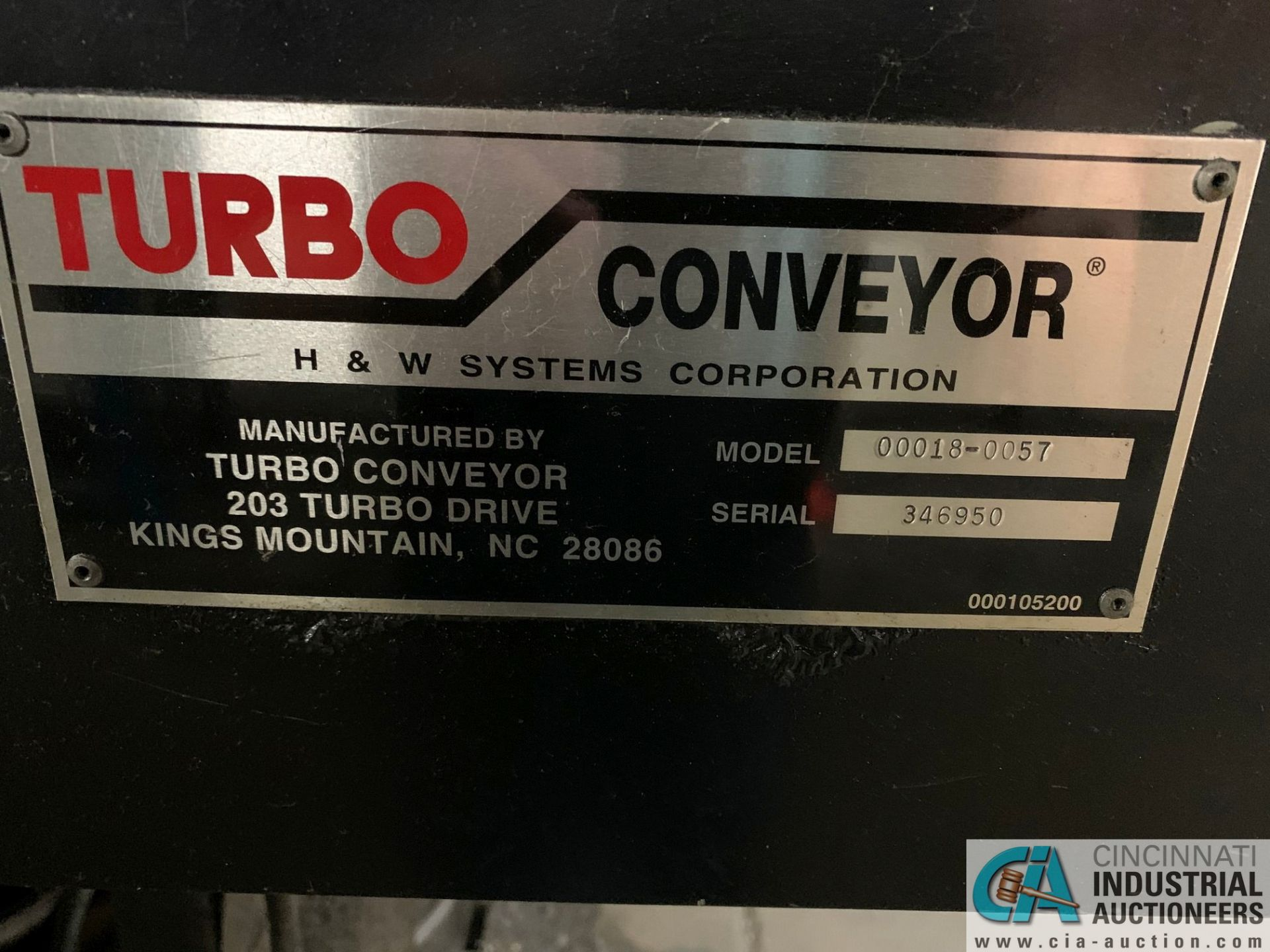 "12"" X 12' TURBO MODEL 00018-0057 CHIP CONVEYOR; S/N 346950 - Image 3 of 4"