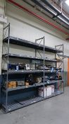 "SECTIONS 72"" X 24"" X 120"" EQUIPTO STEEL SHELVES"