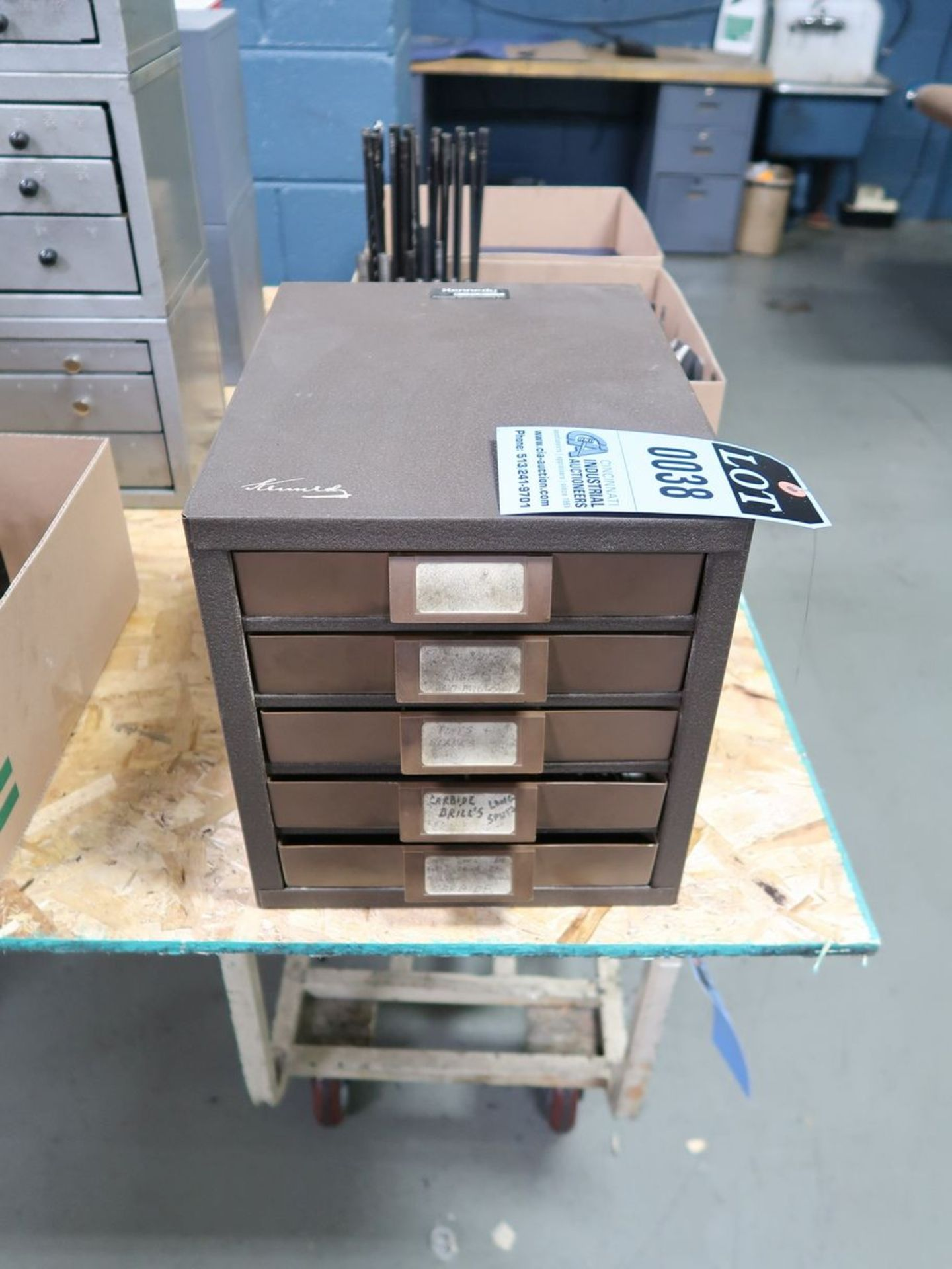 DRILL CABINET WITH CARBIDE DRILLS
