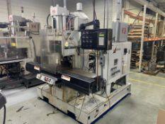 70-TON X 4.9-OZ. AUTOJECTORS MODEL HCS70-S SHUTTLE TABLE VERTICAL PLASTIC INJECTION MOLDING MACHINE;