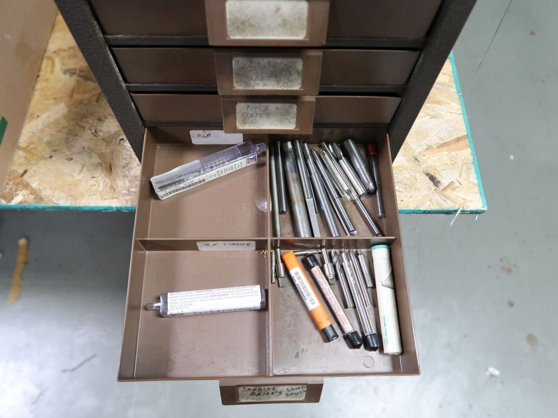 DRILL CABINET WITH CARBIDE DRILLS - Image 3 of 4
