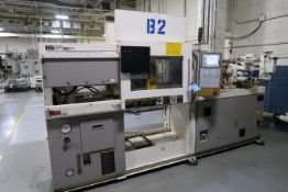 60-TON X 2.9-OZ. TOSHIBA MODEL 1SF60PV10-1.5B PLASTIC INJECTION MOLDING MACHINE (1996)