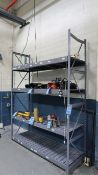 "SECTION 72"" X 24"" X 96"" EQUIPTO STEEL SHELVES"