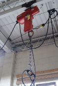 2-TON DAYTON ELECTRIC CHAIN HOIST W/ PENDANT