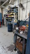 (LOT) CONTENTS OF MAINTENANCE ROOM INCLUDING LIGHTING, HYDRAULIC HOSE, HARDWARE, CONNECTORS,