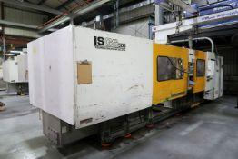 500-TON X 63-OZ. TOSHIBA MODEL 500-27B PLASTIC INJECTION MOLDING MACHINE (NEW 1995)