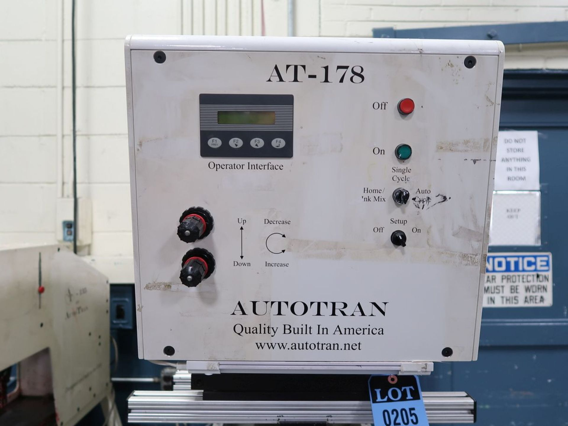AUTO TRAN MODEL AT-178 PAD PRINTER, PENDANT CONTROL - Image 5 of 7