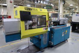 55-TON X 2.32-OZ. BOY MODEL 50A PLASTIC INJECTION MOLDING MACHINE; S/N 59076 (2002)