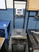 """2,500 LB. GSE MODEL 550 DIGITAL PLATFORM SCALE, 18"""" X 18"""" PLATFORM"""