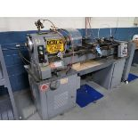 "14"" X 40"" LOGAN MODEL 6561H ENGINE LATHE, 6"" CHUCK, TOOL POST HOLDER, PNEUMATIC TOOL POST TRAVEL"