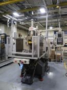 40-TON X 1.76-OZ. AUTOJECTORS MODEL HCR-40-S ROTARY TABLE VERTICAL PLASTIC INJECTION MOLDING