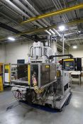 90-TON X 6.7-OZ. AUTOJECTORS HCR-90 ROTARY TABLE VERTICAL PLASTIC INJECTION MOLDING MACHINE (1995)