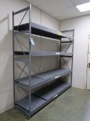 "(LOT) (1) 96"" X 24"" X 96"", (1) 72"" X 24"" X 96"" AND (1) 48"" X 24"" X 96"" EQUIPTO STEEL SHELVES"