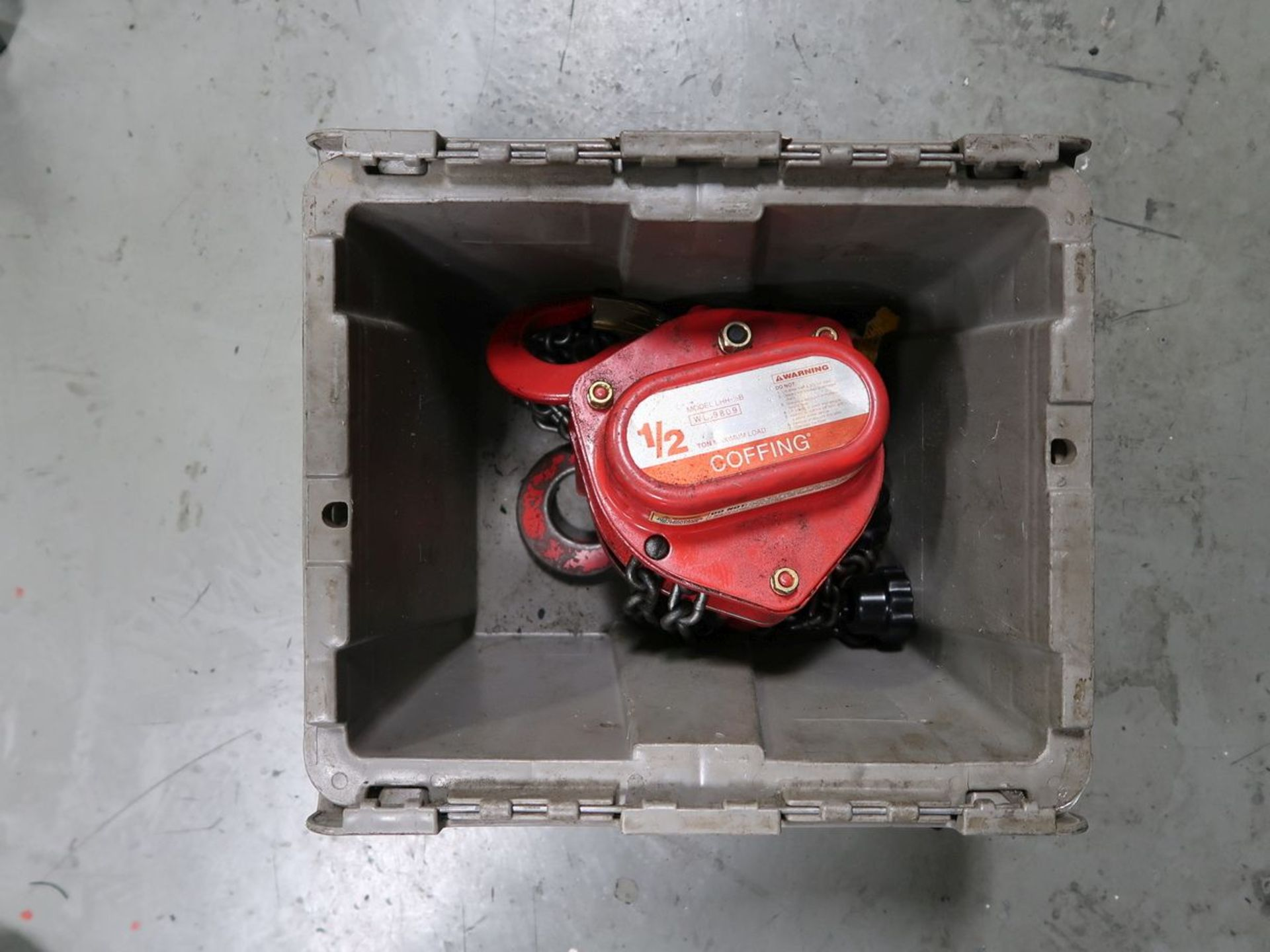 1/2 TON COFFING MANUAL CHAIN HOIST - Image 3 of 3
