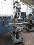 2-HP BRIDGEPORT SERIES I VERTICAL MILLING MACHINE; S/N 250993, W/ ACU-RITE III 2-AXIS DRO