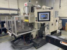 90-TON X 4.44-OZ. AUTOJECTORS HCR-90 ROTARY TABLE VERTICAL PLASTIC INJECTION MOLDING (1998)