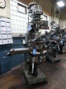 2-HP BRIDGEPORT SERIES I VERTICAL MILLING MACHINE; S/N 241116, W/ MITUTOYO LINEAR AXIS DRO