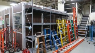 "(LOT) (1) SECTION 48"" X 24"" X 96"" AND (2) SECTIONS 72"" X 24"" X 96"" EQUIPTO STEEL SHELVES"