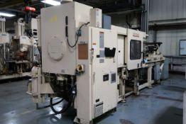 250-TON X 34-OZ. CINCINNATI MODEL MH250-34 PLASTIC INJECTION MOLDING MACHINE (1996)