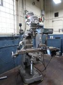 1-1/2 HP BRIDGEPORT VERTICAL MILLING MACHINE; S/N 162648, W/ MITUTOYO DRO