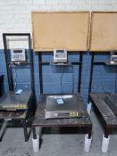 """2,500 LB. GSE MODEL 355 DIGITAL PLATFORM SCALE, 18"""" X 18"""" PLATFORM"""