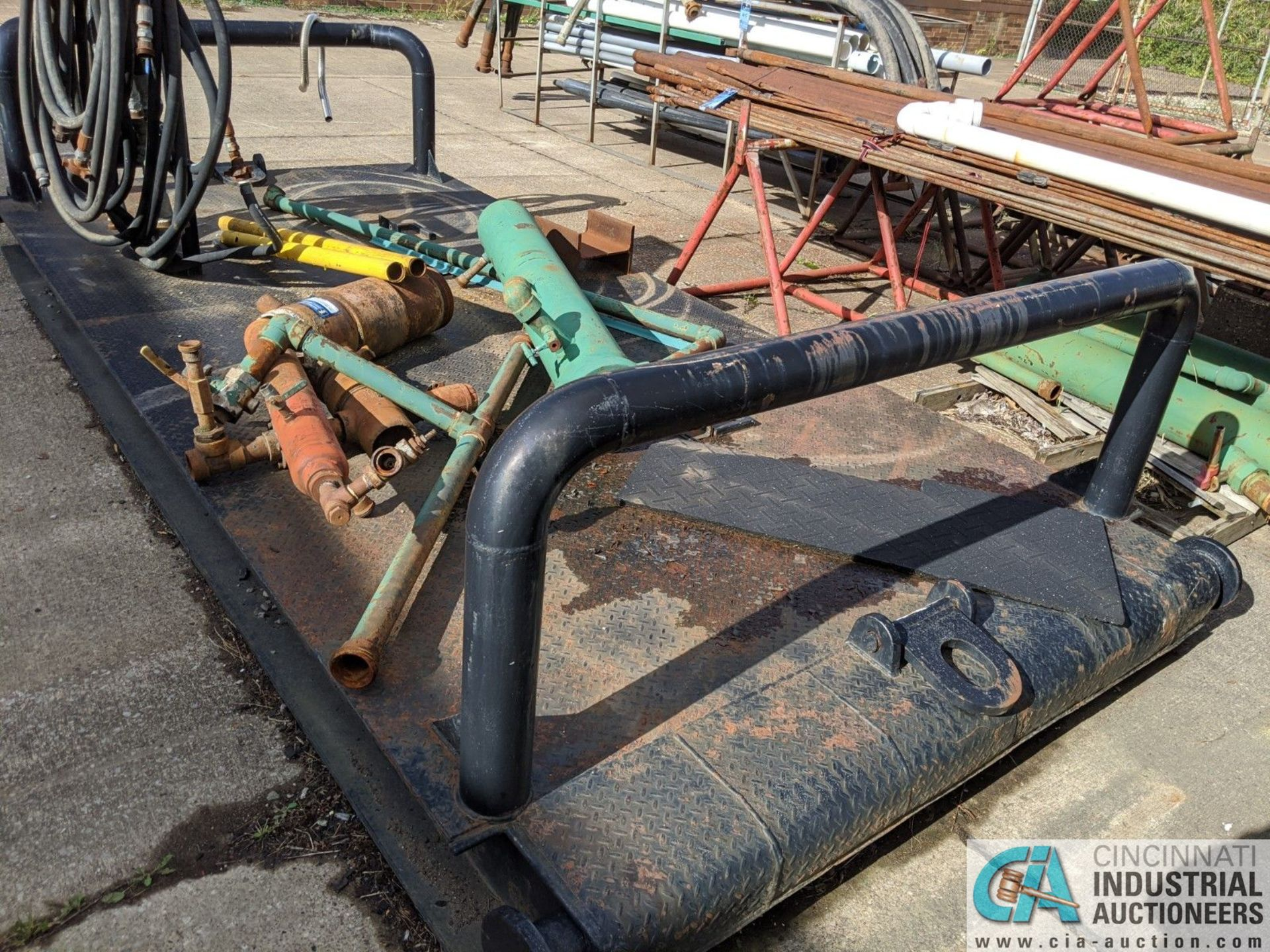 7' WIDE X 14' STEEL SKID (8635 East Ave., Mentor, OH 44060 - John Magnasum: 440-667-9414) - Image 3 of 3