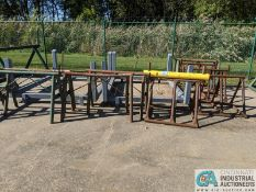 (LOT) STEEL HORSES (QTY 9) ON FABRICATED STANDS (QTY 2) **38700 Pelton Rd., Willoughby, OH 44094 -