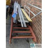 (LOT) ALUMINUM STEEL FRAME STEPS & STEEL TABLE (8635 East Ave., Mentor, OH 44060 - John Magnasum: