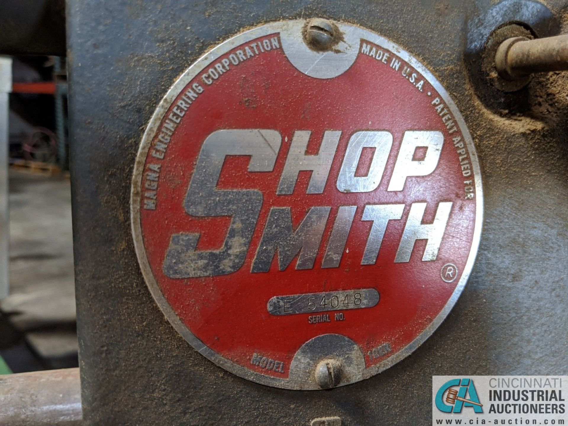 """15"""" SHOP SMITH BELT TYPE WOODWORKING LATHE; S/N E546548, MOUNTED ON PORTABLE BASE (8635 East Ave., - Image 3 of 5"""