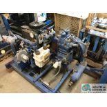 CANAN NATURAL GAS POWERED SKID MOUNTED NATURAL GAS COMPRESSOR; 27-HP KAWASAKI ENGINE, NO TRAILER (