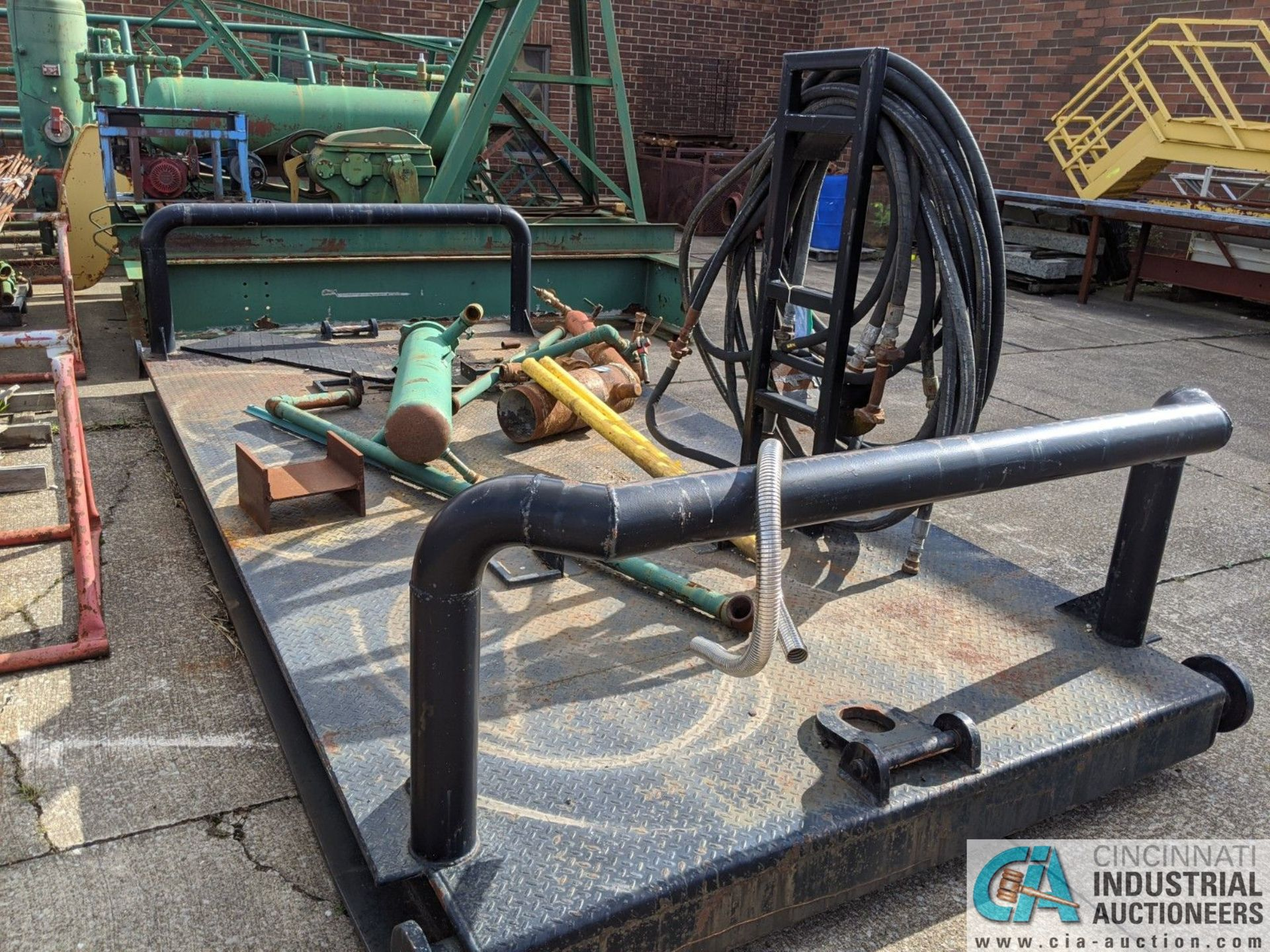 7' WIDE X 14' STEEL SKID (8635 East Ave., Mentor, OH 44060 - John Magnasum: 440-667-9414) - Image 2 of 3