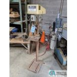"15"" ROCKWELL MODEL 15-091 SINGLE SPINDLE FLOOR DRILL; 10"" X 10-1/2"" TABLE (8635 East Ave., Mentor,"