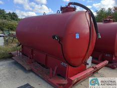 62 BARREL DICKERSON TRUCK BED TYPE WATER TANK; S/N 4756 (220 Blackbrook Rd., Painsville, OH