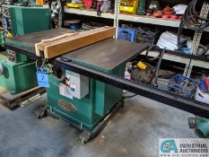"12"" GRIZZLY MODEL G5959 TABLE SAW; S/N 20431, 30"" X 48"" TABLE, RIP RENCE (8635 East Ave., Mentor, OH"