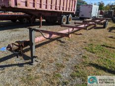 5' X 40' SHOP BUILT TANDEM AXLE PIP TRAILER; NO TITLE, MUST GET WEIGHT SLIP (220 Blackbrook Rd.,